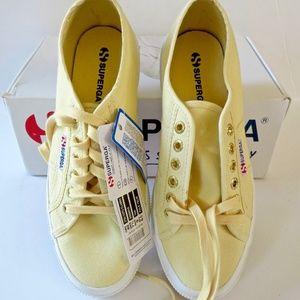 NWT NIB Superga Pale Yellow Cotu Classic Sneaker 9